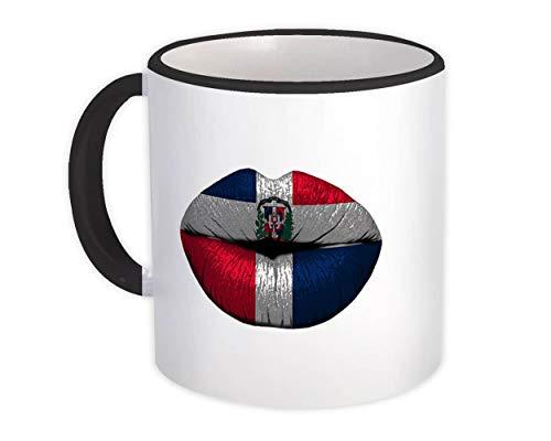 Bandera Dominicana Labios : Taza de Regalo : República Dominicana País de expatriados