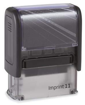 Print&Bind Center Stempel Selbstfärber TRODAT Imprint mit Wunschtext (Imprint 11 3-4 Zeilen Abdruckgröße: 14 x 38 mm)