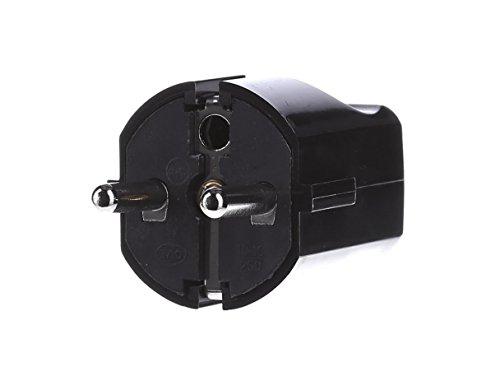 Bachmann 910170 centrale stekker met randaarde, zwart