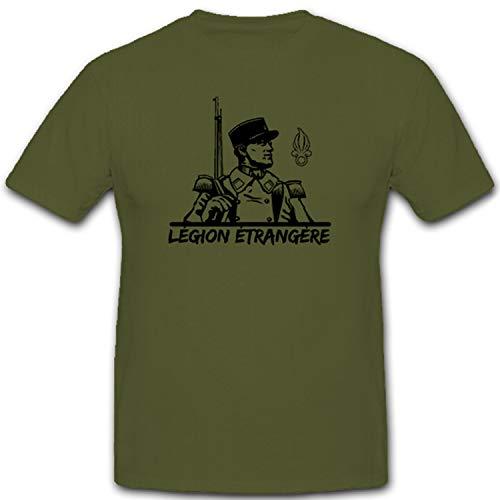 légion etrangère Fremde Legion Francia Franceses del Ejército Militar especial unidad Soldado–Camiseta # 11353 verde oliva XX-Large