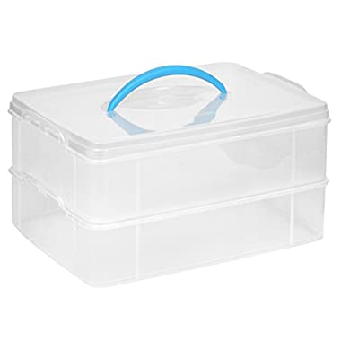 Snapware Snap 'N Stack Portable Organizer, 14.1 by 10.5 by 3.7-Inch, Clear