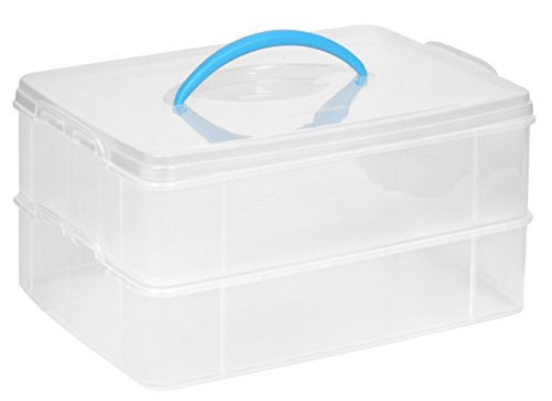 Snapware Snap 'N Stack Portable Organizer (14.1-Inches by 10.5-Inches, BPA Free Plastic)