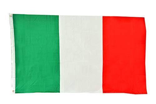 Ciao 22016 - Bandera de Italia de tela, color verde/blanco/rojo, 150 x 90 cm