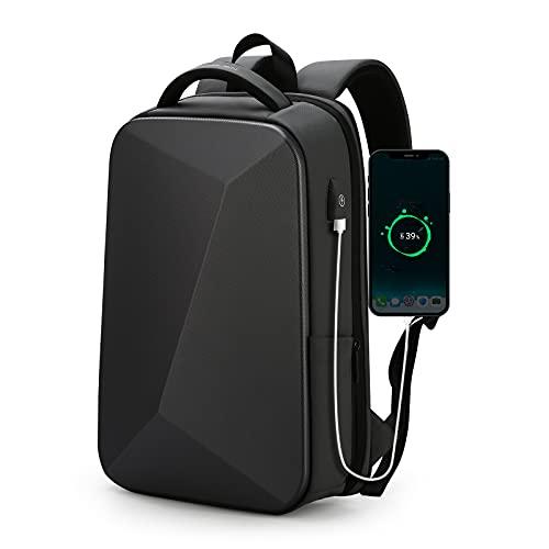 FENRUIEN Laptoptasche Laptop Rucksack Schwarz 35L Wasserdicht Backpack mit USB-Ladeanschluss Anti Diebstahl Daypack mit Laptopfach Anti-Extrusion Arbeit/Schule/Reisen Schulrucksack