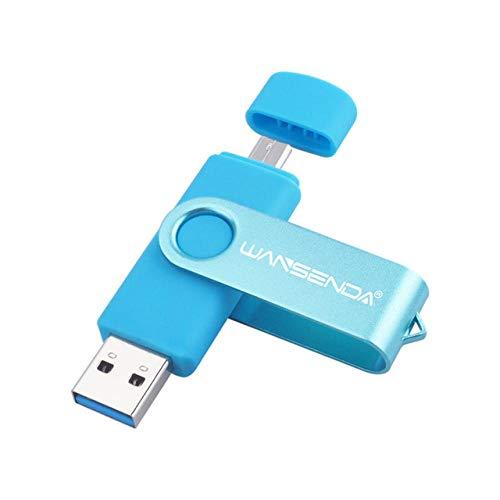 New Usb 3.0 Wansenda OTG USB flash drive for SmartPhone/Tablet/PC 8GB 16GB 32GB 64GB 128GB 256GB Pendrive High speed pen drive-blue_32GB
