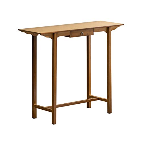 Hall Against The Wall Consola mesa de madera maciza, mesa de comedor para sala de estar, mesa de comedor 80/100/120 cm (tamaño: 120 x 33 x 82 cm)
