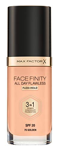 Max Factor FaceFinity 3 en 1 All Day Flawless Base de Maquillaje Tono 075 Golden - 119 gr