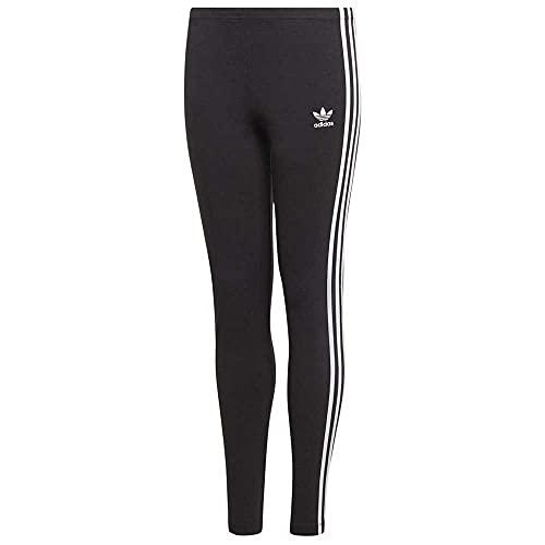 adidas 3Stripes Legg, Pantaloni Bambina, Black/White, 11-12 Anni