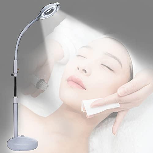GUTYRE Lámpara De Luz Fría LED para Salón De Belleza, Lámpara De Tatuaje con Lupa, Lámpara De Belleza, Lámpara De Pie para Uñas Y Pestañas