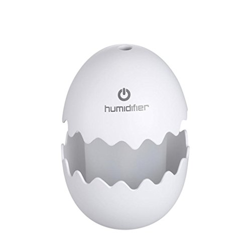 Best Buy! Fabal Mini Egg Ultrasonic Humidifier LED Home Office Car Air Aroma Diffuser Purifier (Whit...