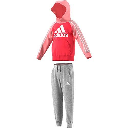 adidas LK B Ft Tracksu, Vestito Sportivo Unisex Bimbi, Rosbas/Rosglo/Brgrin, 3XL