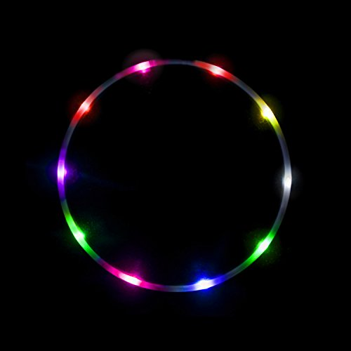 The Hoop Shop LED Hula Hoop - 14 Color Changing LED Lights - Multiple Technicolor Prism (36)