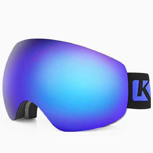 HXwsa Skibrille, Winter Schneesport Snowboardbrillen mit Anti-Fog UV-Schutz Doppel-Objektiv für Männer Frauen und Jugend Motorschlitten Skifahren Skating,C