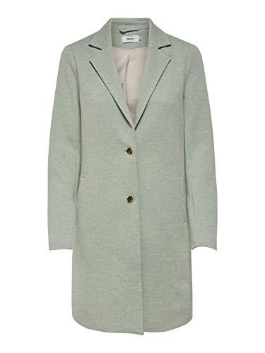 ONLY NOS Damen onlCARRIE MEL COAT OTW Mantel, Grün (Lichen Detail:Melange), 34