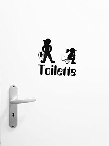 WC de Cartel Cartel de inodoros WC de Puerta # 15 De homew orld de Equipster Divertido Pegatinas para aseos para la Puerta ni/ños