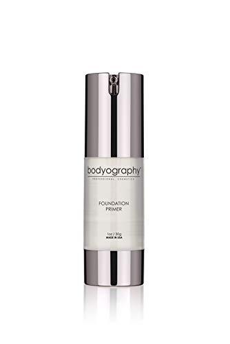 Bodyography Foundation Primer (Clear): Anti-Aging Salon Makeup Primer w/ Vitamin E, A, Jojoba, Grapeseed Oil, 1 oz