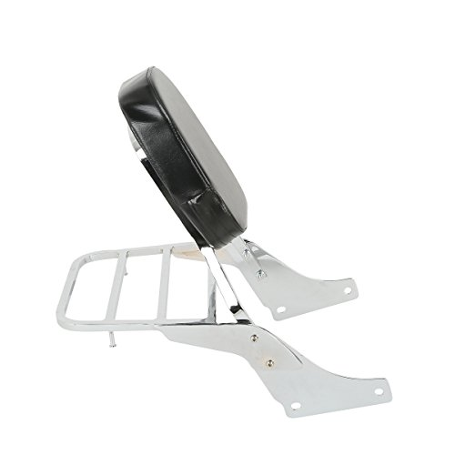 XFMT Backrest Detachable Sissy Bar W/Luggage Rack Backrest Compatible with Honda Shadow SABRE VT1100 ACE VT1100 All Years