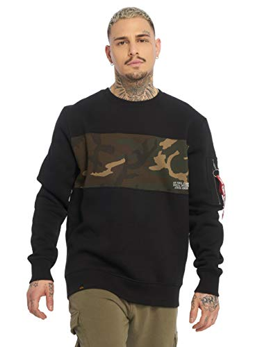 Alpha Industries Camo Bar Sweatshirt Schwarz/Camouflage L