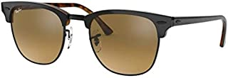 Ray-Ban CLUBMASTER RB 3016 GREY/BROWN GREY SHADED 49/21/140 men Sunglasses