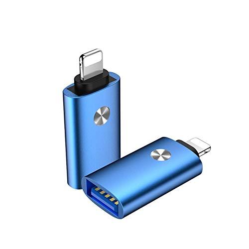 DZSW USB Se Utiliza para conectar un Rayo USB al Kit de Adaptador OTG para el convertidor de iPhone, Adecuado para iOS iOS 12 13 para conectar Piano Midi Adaptador USB (Color : Blue)