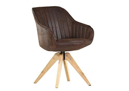 Gutmann Limited Sessel Chill Stoff Massivholz Natur Wohnzimmer Esszimmer (302/8 - Nubuk Braun)