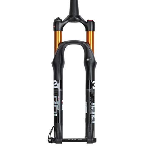 Sentarse ZZQ- MTB Horquilla De Suspensión Aleación De Magnesio Bicicleta Horquilla Delantera Duraderas Estructura Fuerte Accesorios De Bicicleta 27.5/29 Pulgadas