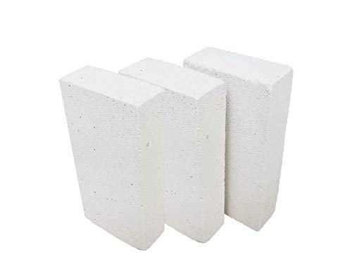 Insulating FireBrick 9' x 4.5' x 2.5' IFB 2500F Set of 8 Fire Brick for Pizza Ovens, Kilns, Fireplaces, Forges