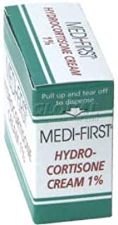 Hydrocortisone Cream 1%, 1g Foil Pack, 25/Box, (Pack of 10) (21173)