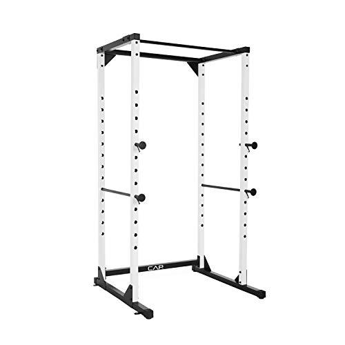CAP Barbell Full Cage Power Rack, 7-Foot, White