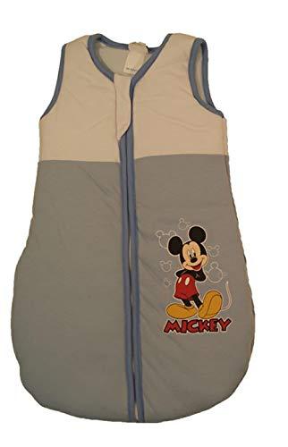 Disney Baby Mickey Mouse Baby Schlafsack Ganzjahres-Schlafsack für Jungen in Größe 56 62 68 74 80 86 92 98 104 Baumwolle ideal auch für Winter Farbe Modell 3, Größe 68/74
