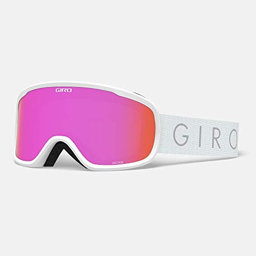 Giro Moxie Womens Snow Goggle - White Core Light Strap with Amber Pink/Yellow Lenses