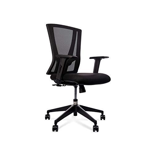 Wipro Furniture Fabric Ergonomic Chair (Black)