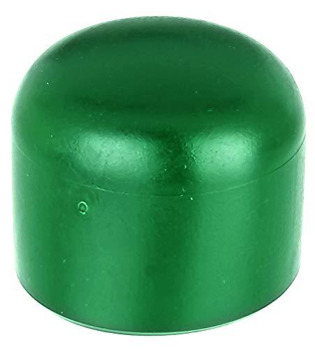 GAH-Alberts 654511 Pfostenkappe für runde Metallpfosten | Kunststoff, grün | für Pfosten-Ø 34 mm | 20er Set