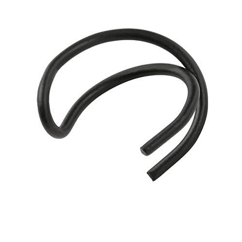 OverDose Pendientes Mujer Pendientes Cartilago Oreja Ear Cuff No Piercing Ear Cuff Double Ear Cuff Pendientes Cruz Mujer Goticos Trepadores (Negro)
