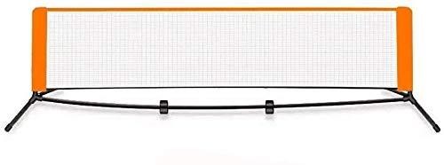 ZFSWMY 6.1m Stahlrohr Bracket Badminton Net-Rack, bewegliches Standard-Badminton Net-Set for Tennis for Innen- oder Außenplatz, Strand, Auffahrt erträglichen Attraktive