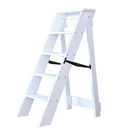Escaleras Escalerillas Escaleras de Tijera de Madera Escaleras de peldaño Plegables de...