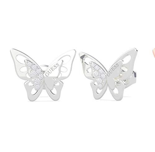 GUESS JEWELLERY PENDIENTES OVERLAPPED BUTTERFLY STUDS UBE70184