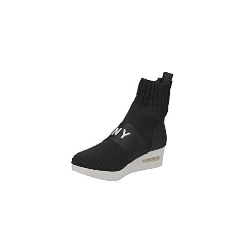 DKNY Anna Slip on Wedge Femme Baskets Mode Noir