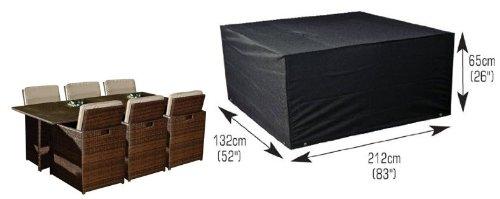 Deluxe Polyestere Copri Telo di copertura per sedie e tavolo rettangolare 212cm