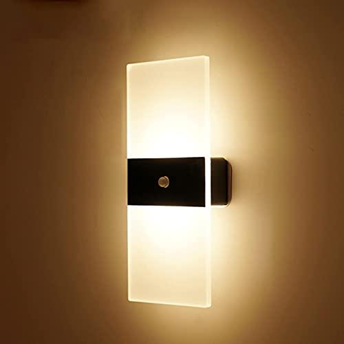 HIGHKAS Lámpara de Pared LED con batería y Sensor de Movimiento Lámpara de Pared magnética Recargable USB Luces Interiores Modernas para pasillos Luz Nocturna Inteligente 3000K Stick Anywhere para