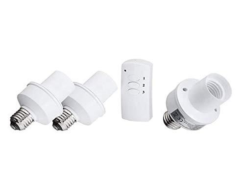E27 Tornillo Control remoto inalámbrico Lámpara de luz Titular de bombilla Tapa Cap Socket Interruptor ILFYJRHD