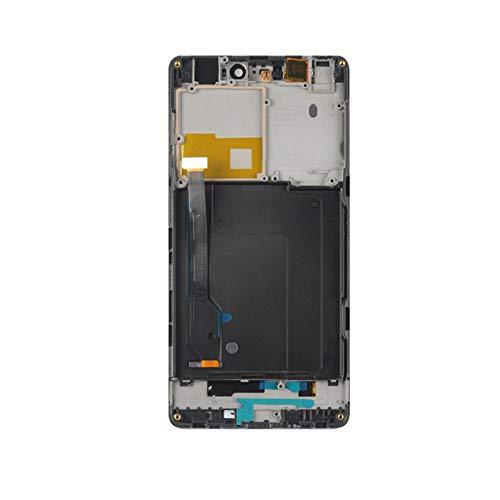 Pantallas LCD para teléfonos móviles Pantalla LCD Pantalla de Panel táctil Pantalla Digitalizador Reemplazo/Ajuste para Xiaomi MI4C M4C MI Piezas de Sensor de teléfono. (Color : Black with Frame)