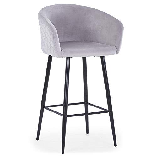 Menzzo Chaise de Bar, Métal,Tissu, Taille Unique