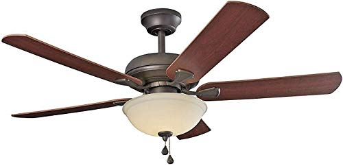 Energy Efficient 52 Inch LED Ceiling Fan with Nutmeg...