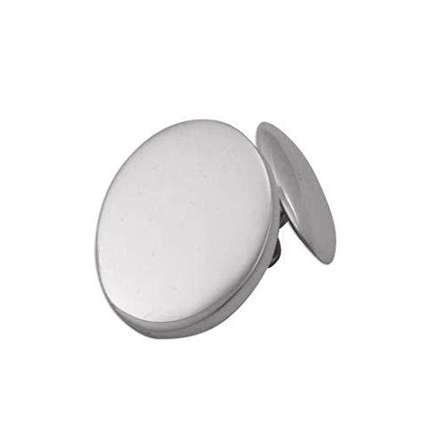 Boutons de Manchette Ovales en Argent 925/1000 - A Chaînette