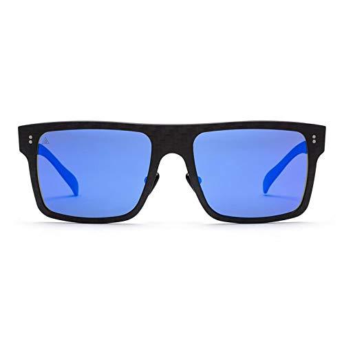 Gafas sol polarizadas 100% Fibra de Carbono  UV400  Unisex Adulto  Modelo Square Mirror Blue  Gafas de Sol Deportivas  Máxima Resistencia y Ligereza  Diseño Clásico Atemporal