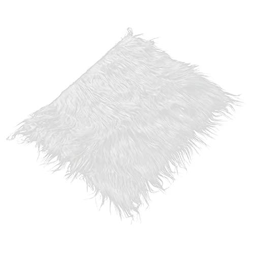 Accesorio de fotografía de bebé, manta de alfombra de fotografía de bebé cálida, blanco puro para la decoración de la habitación de los niños