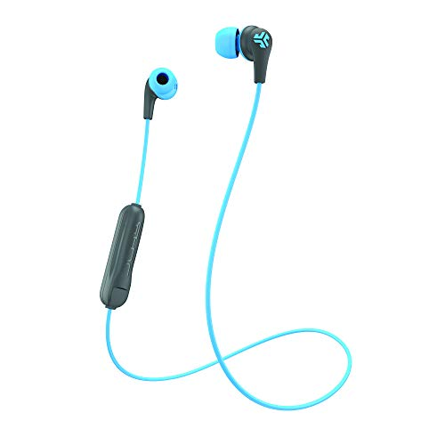 JLab JBuds Pro Bluetooth Wireless Signature Earbuds | Titanium 10mm Drivers | 6-Hour Battery Life | Music Controls | Noise Isolation | Bluetooth 4.1 Extra Gel Tips and Cush Fins | Graphite/Blu