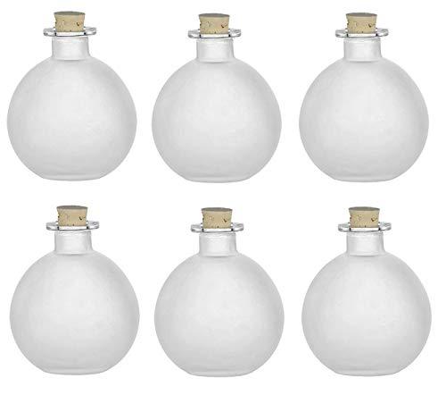 Nakpunar - Botellas de cristal esféricas con cierre de corcho