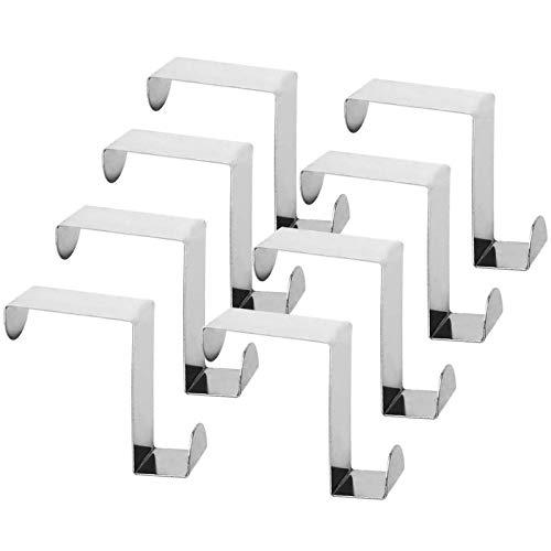 GAKIN Ganchos de metal para armario y cajón de acero inoxidable reversibles